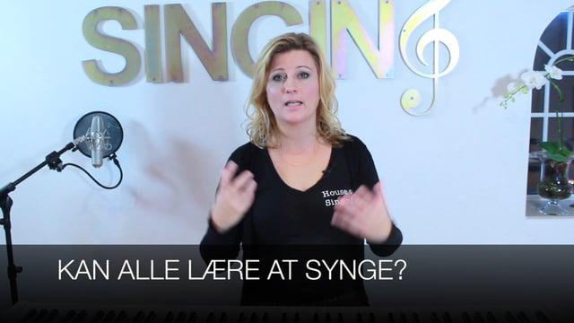 Kan alle lære at synge?