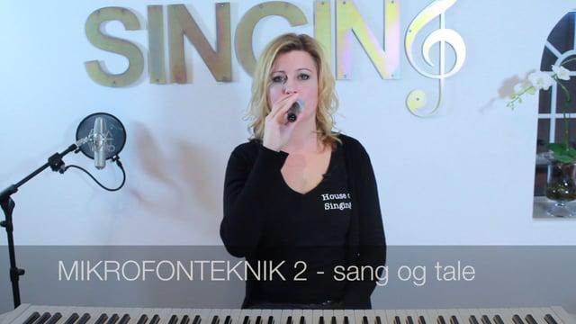 Mikrofonteknik 2, sang og tale – Gittes Guldkorn